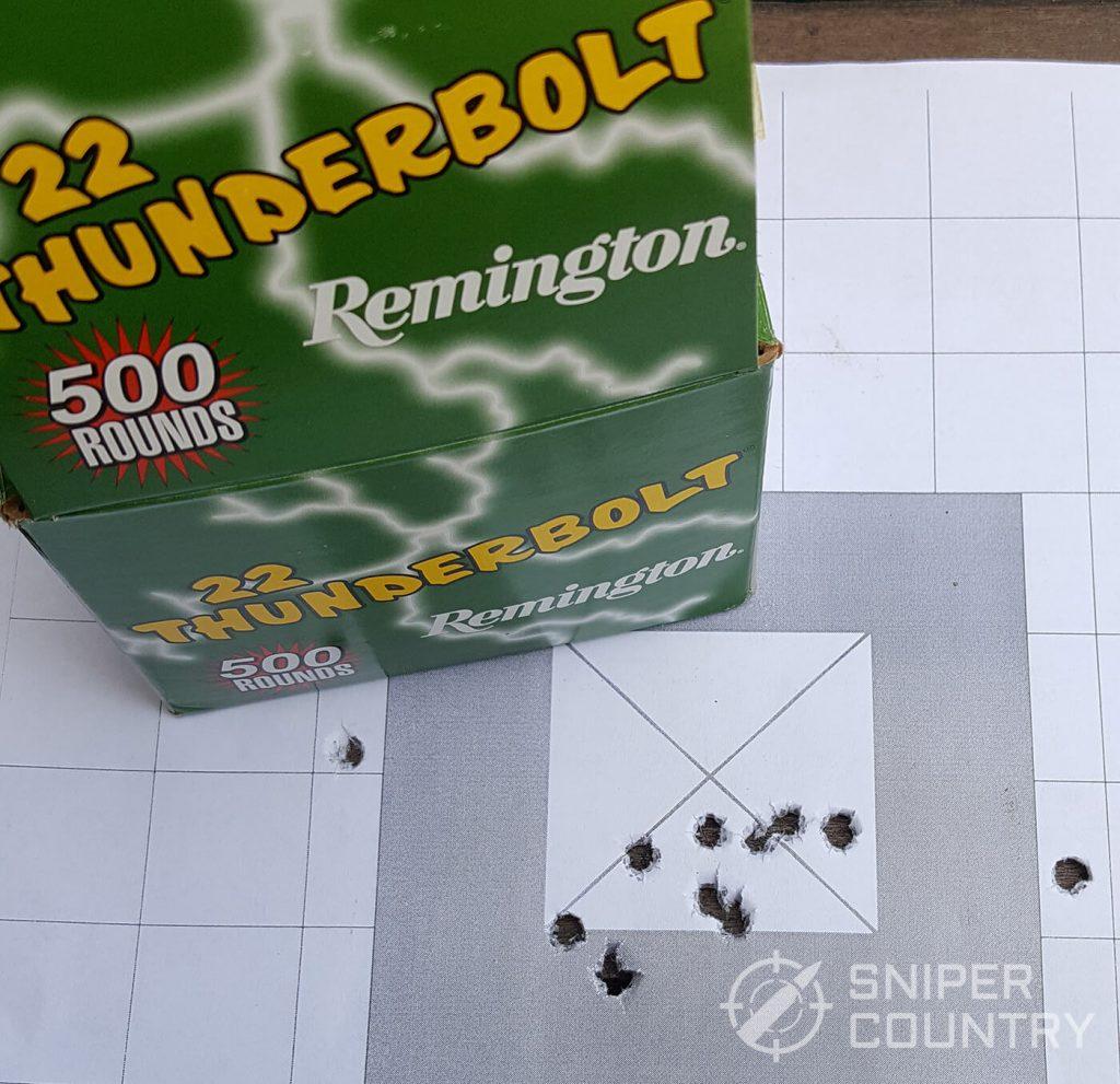Thunderbolt Ammo Grouping