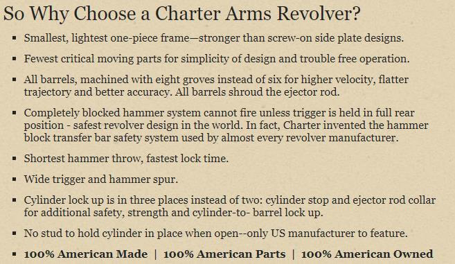 Why choose Charter Arms