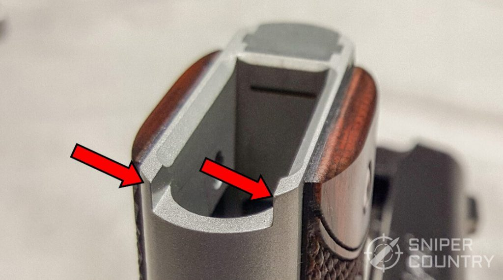 Kimber Micro 9 mag well edges
