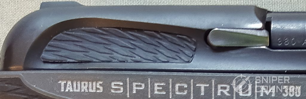 grip slide of the Taurus Spectrum