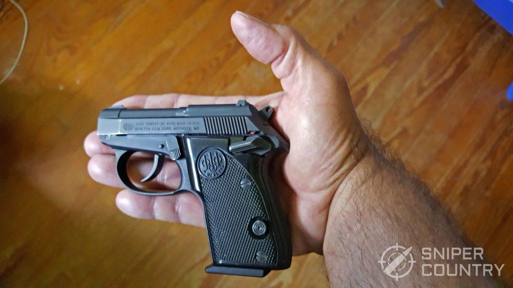 Beretta 3032 Tomcat in hand
