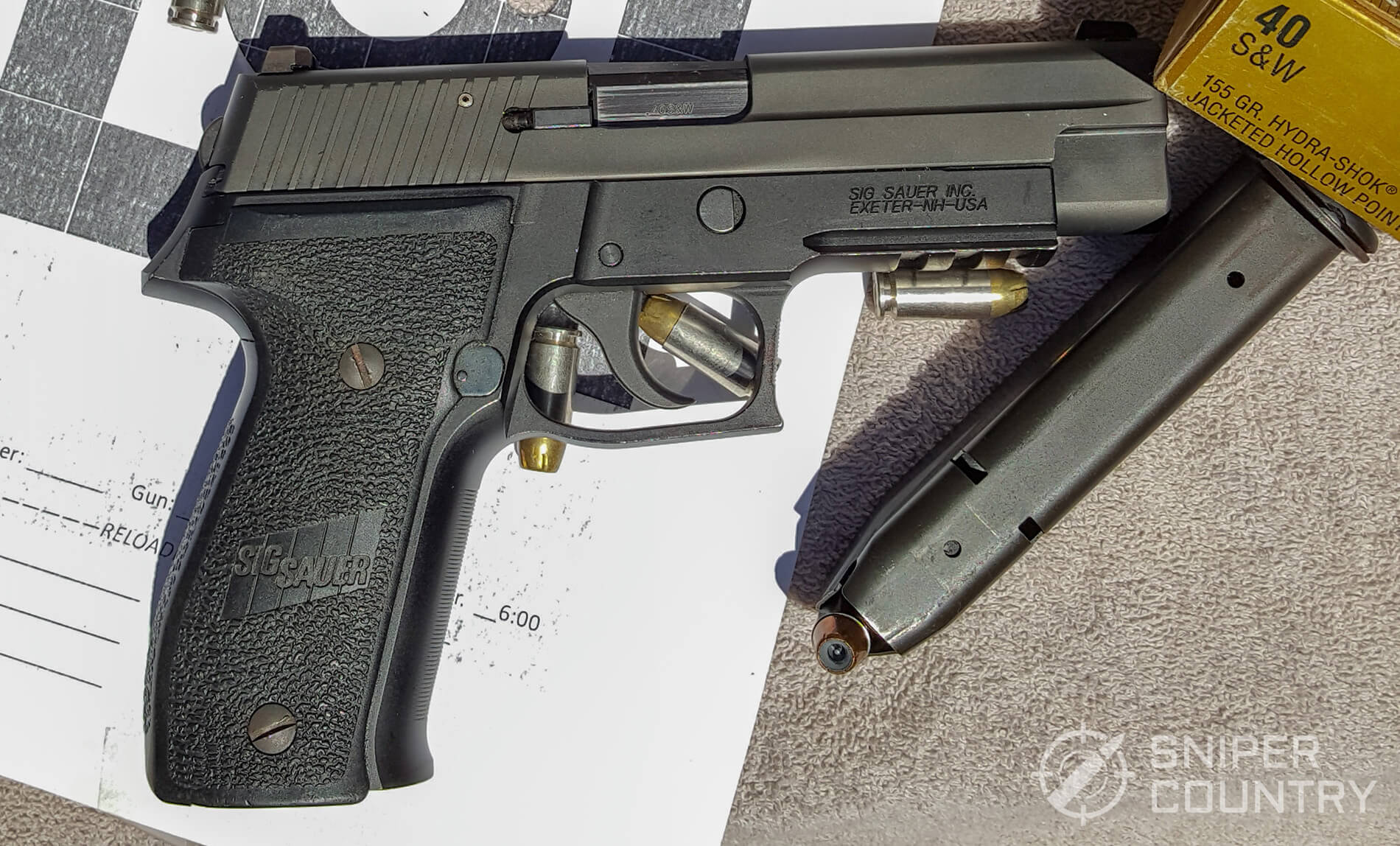 S And W >> Review Sig Sauer P226 Sniper Country