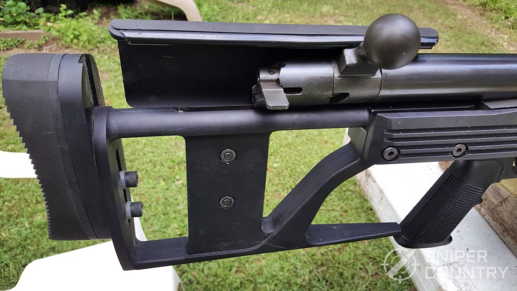 buttstock of the ArmaLite AR-50