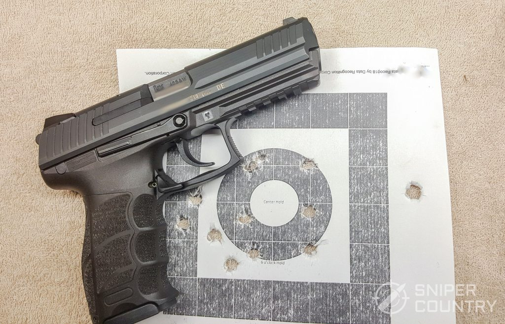 H&K P30L with target
