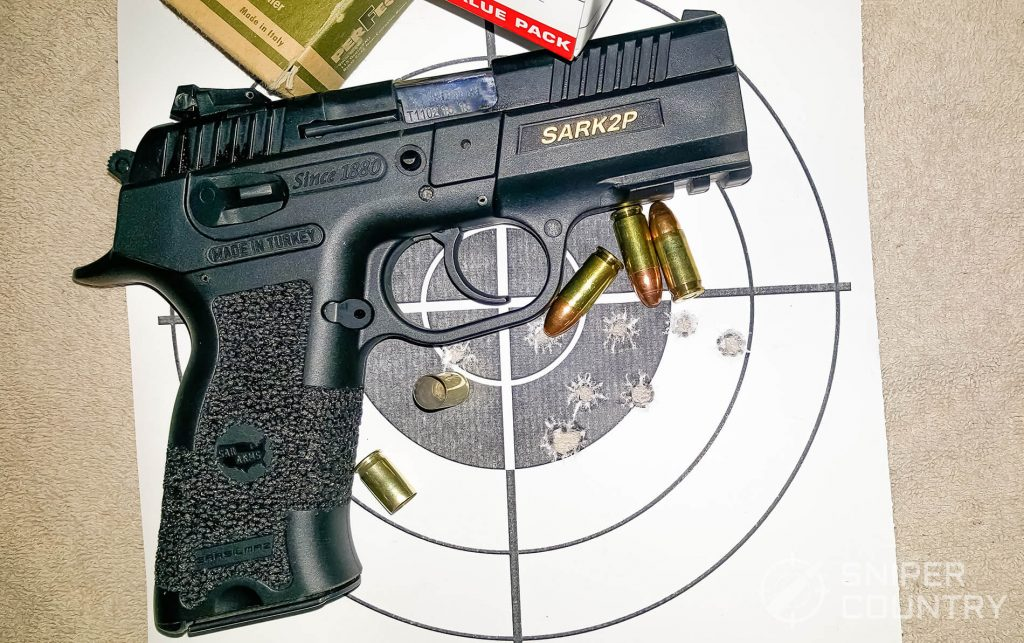 SAR K2P and ammo on target