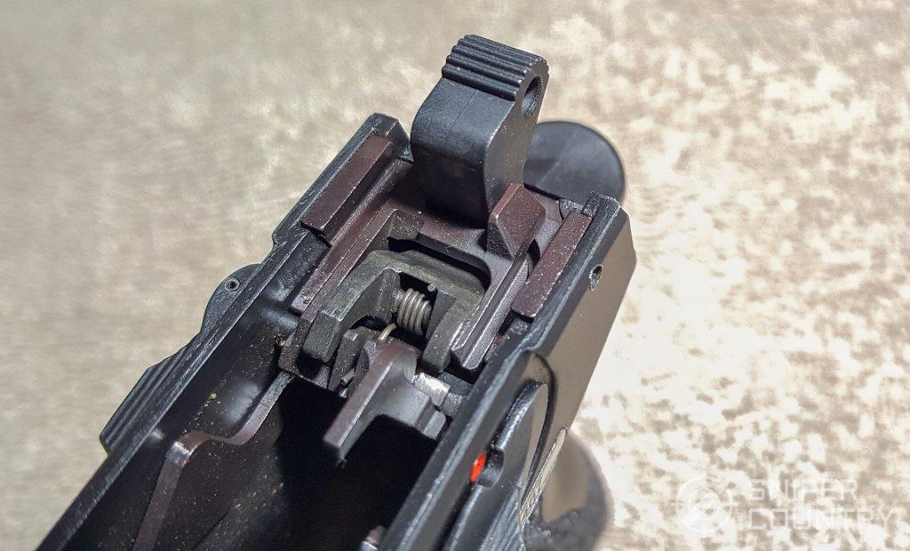 SAR K2P hammer against frame