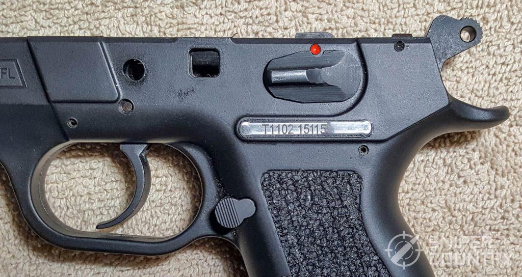 SAR K2P hammer half-cock