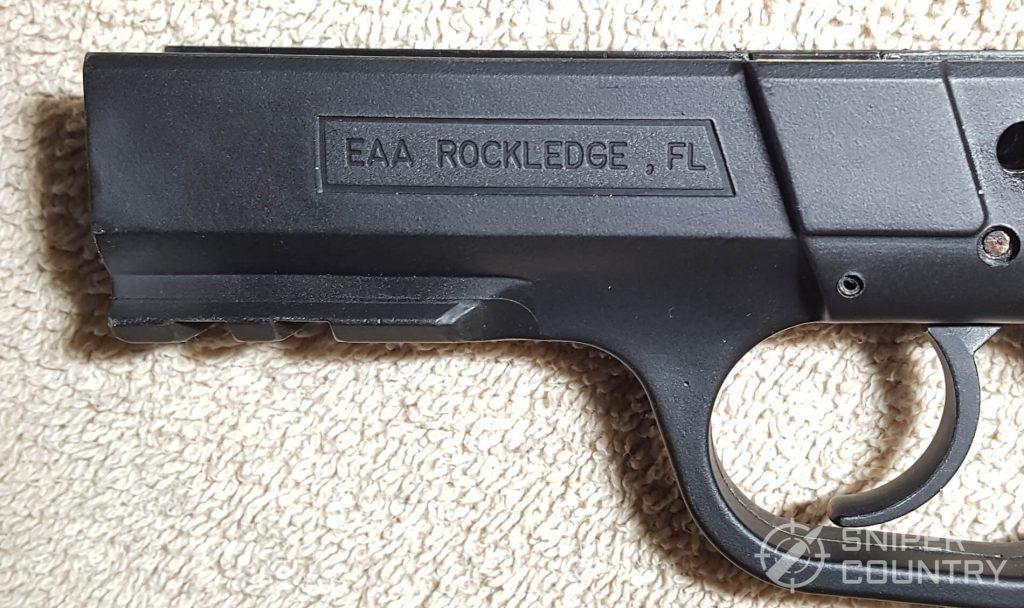 SAR K2P left frame engraving