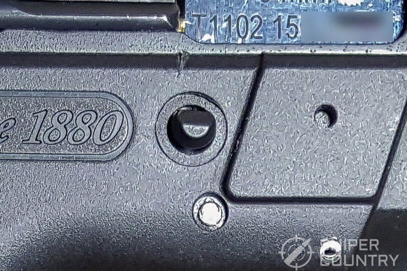 SAR K2P protruding pin