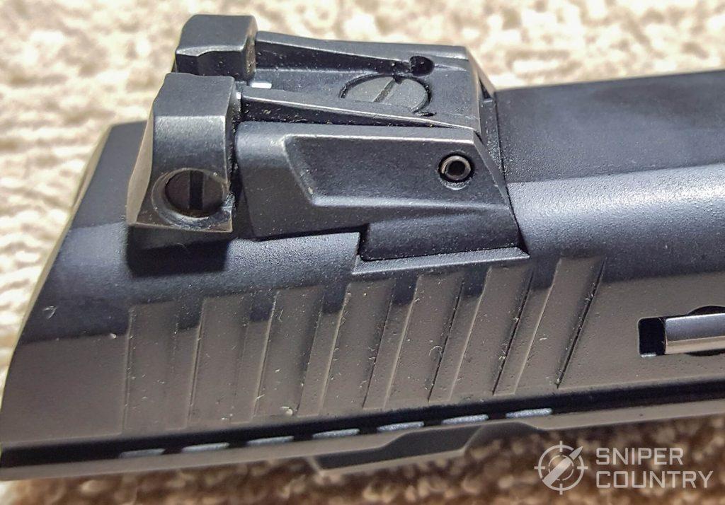 SAR K2P rear sight left