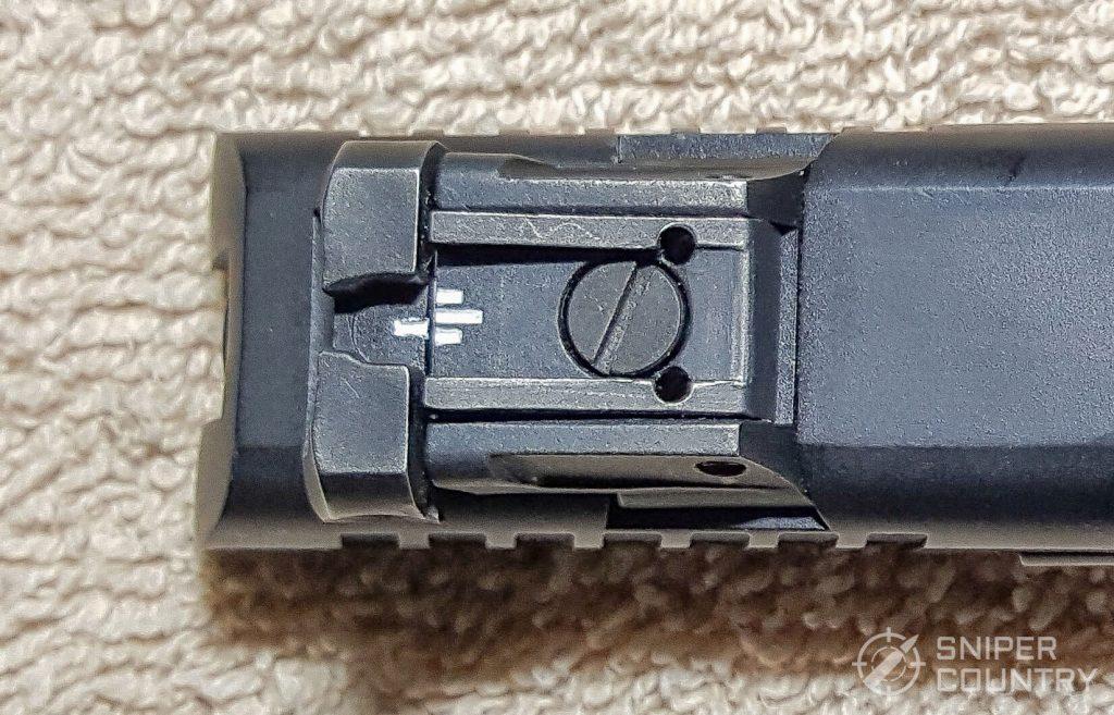 SAR K2P rear sight top