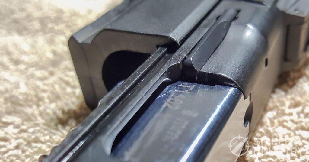 SAR K2P slide rails inside frame