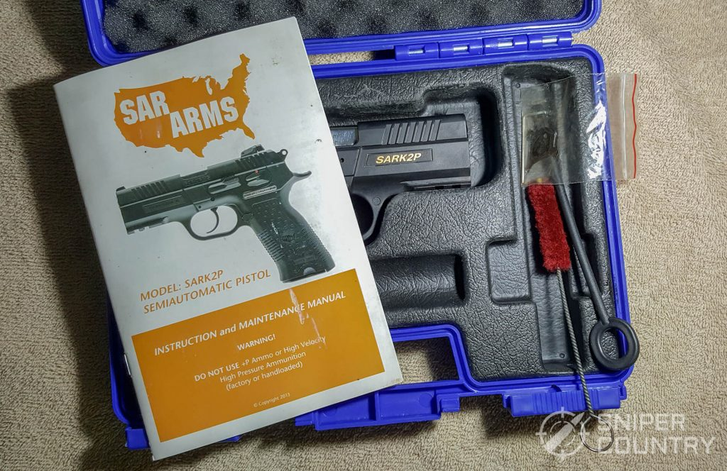 SAR K2P what comes with gun