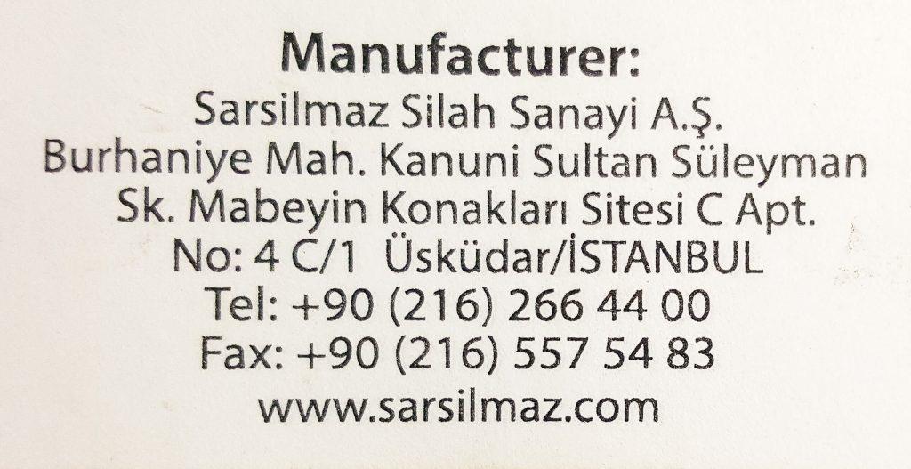 manufacturer address