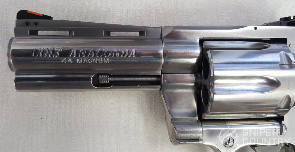 Colt Anaconda barrel-vent rib-ejec-rod