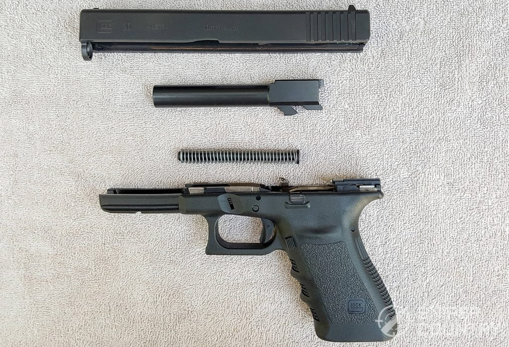 Glock 20 taken down