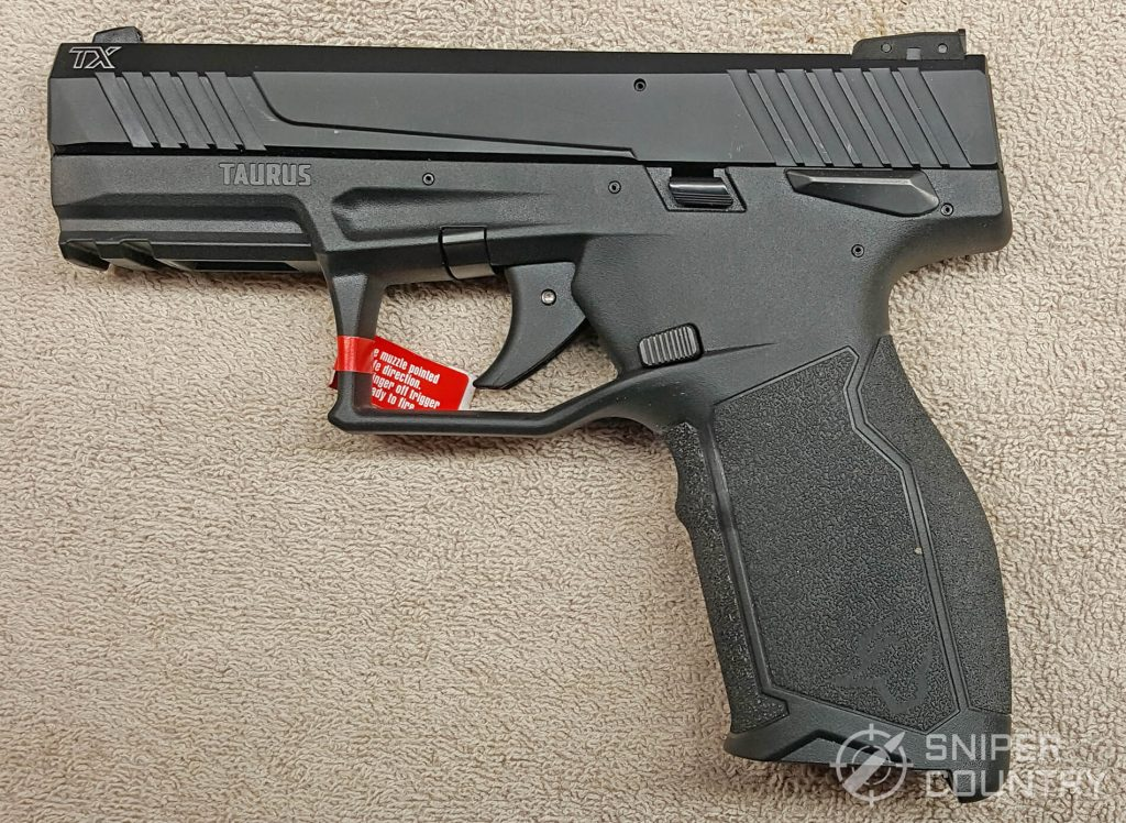 Taurus TX22 gun left side