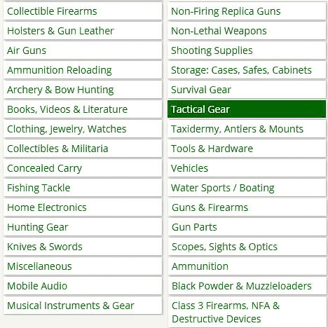 What Gunbroker.com sells