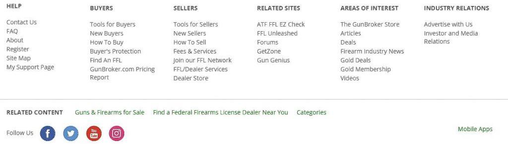 help sellers panel on Gunbroker