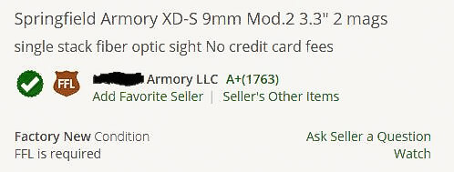 seller rating on Gunbroker.com