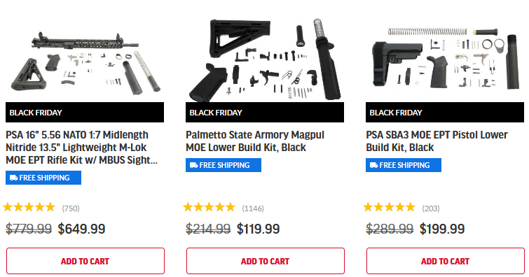 Black Friday PSA Products - Black Friday Sales Palmetto State Armory