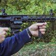Troy Defense M5 9mm Carbine being shot