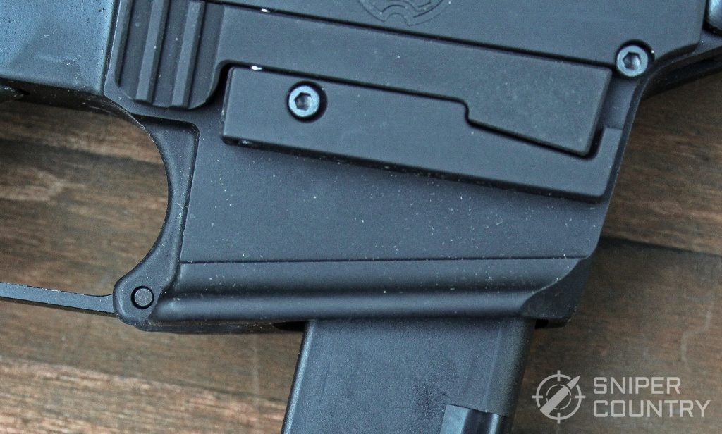 Troy Industries A4 9mm Carbine external mag-release