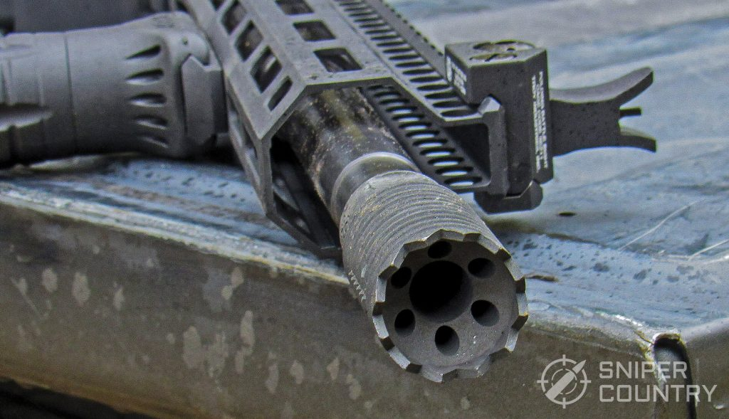 Troy Industries A4 9mm Carbine muzzle