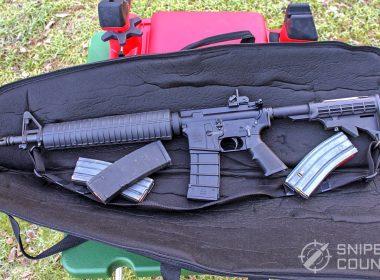 AR-15 on shooting range