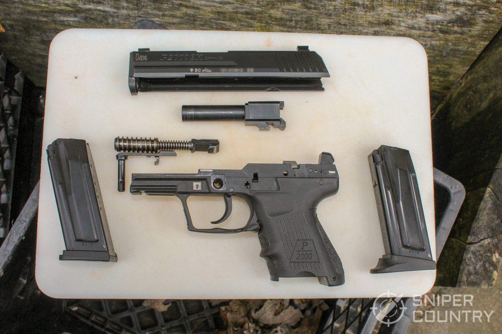 HK P2000SK pistol torn down