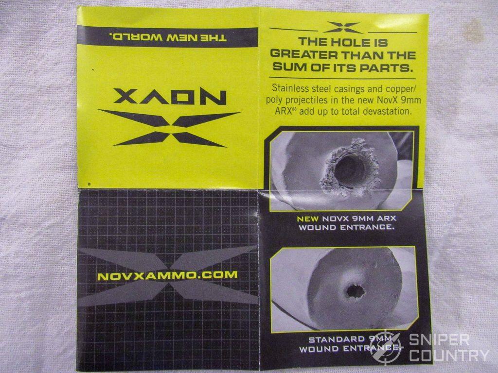 NovX 9mm Ammo flyer