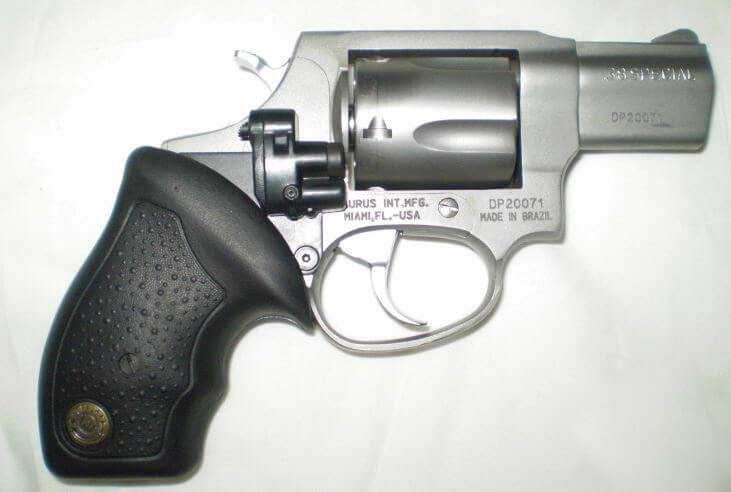 Taurus 85 Ultralite laserlyte on gun
