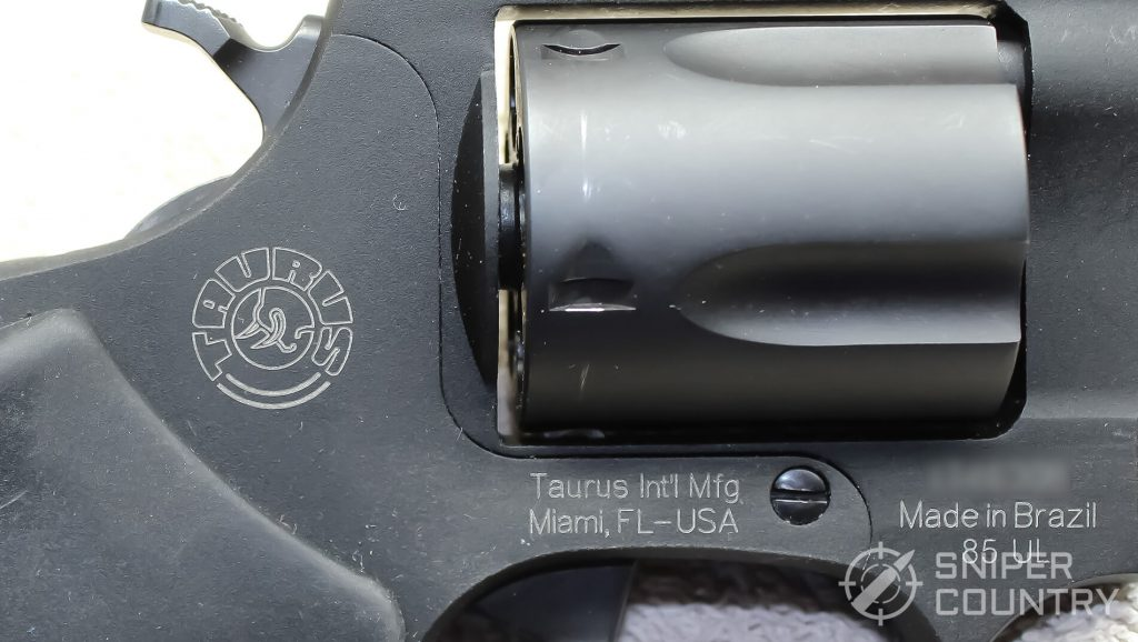 Taurus 85 Ultralite right side engraving