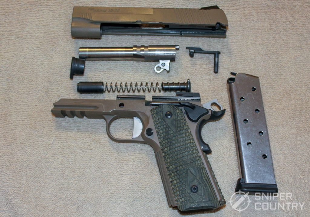 Sig Sauer Scorpion 1911 field stripped