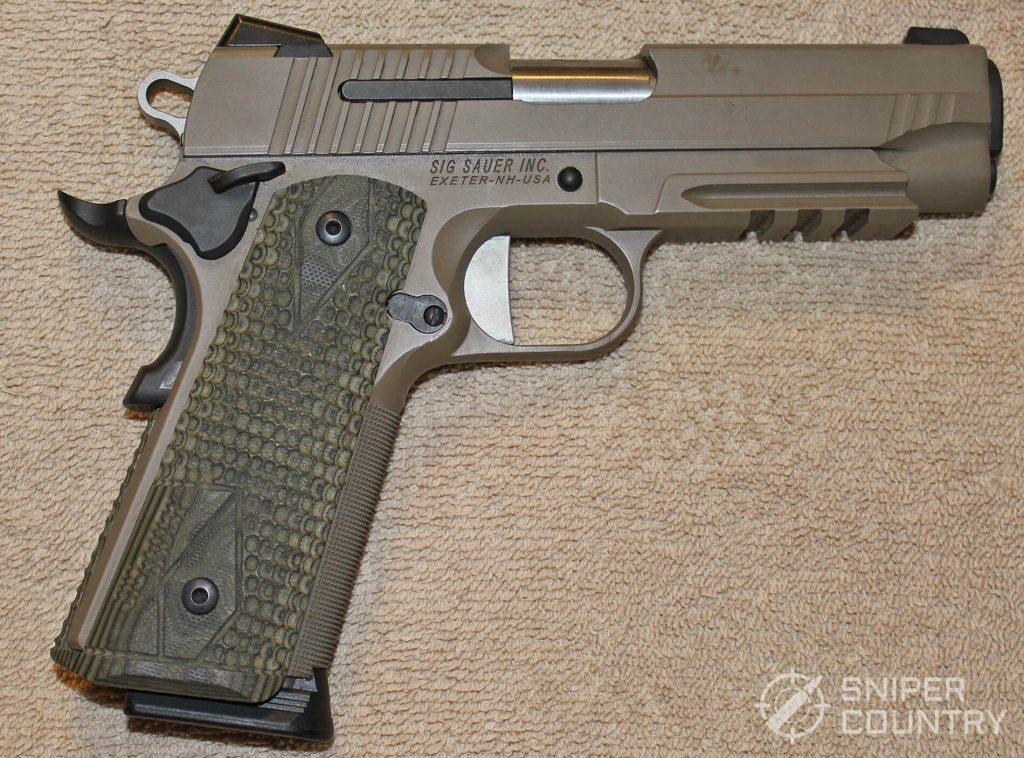 Sig Sauer Scorpion 1911 gun left