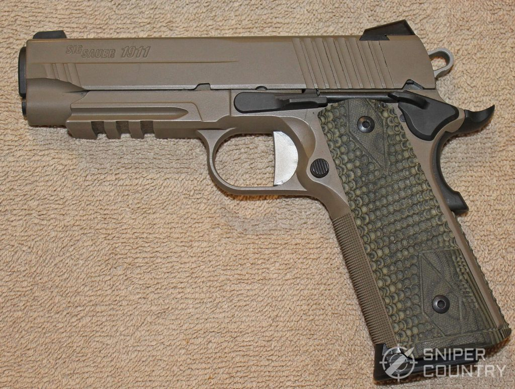 Sig Sauer Scorpion 1911 gun right