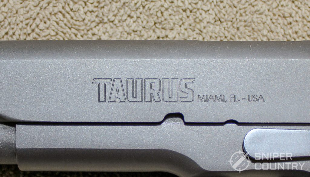 Taurus PT1911 etching left side