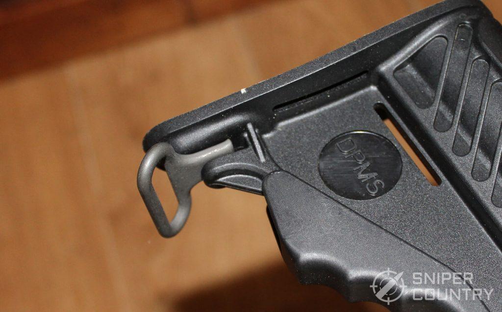 DPMS LR-308 sling mount rear