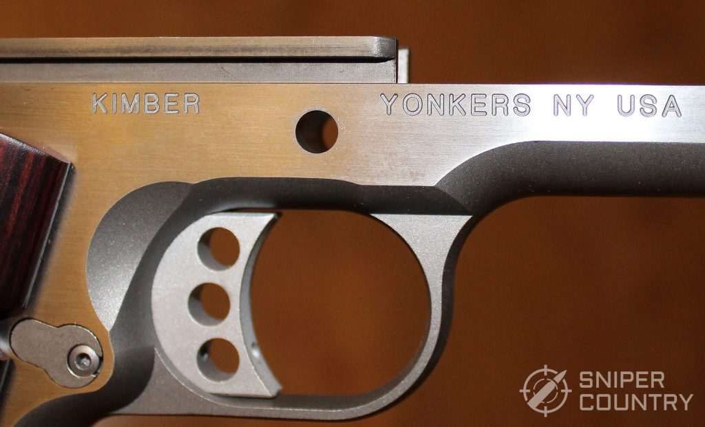 Kimber Custom II frame engraving right