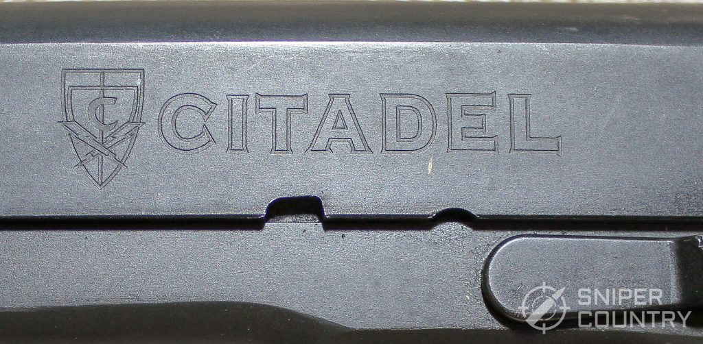 Citadel 1911 left engraving logo