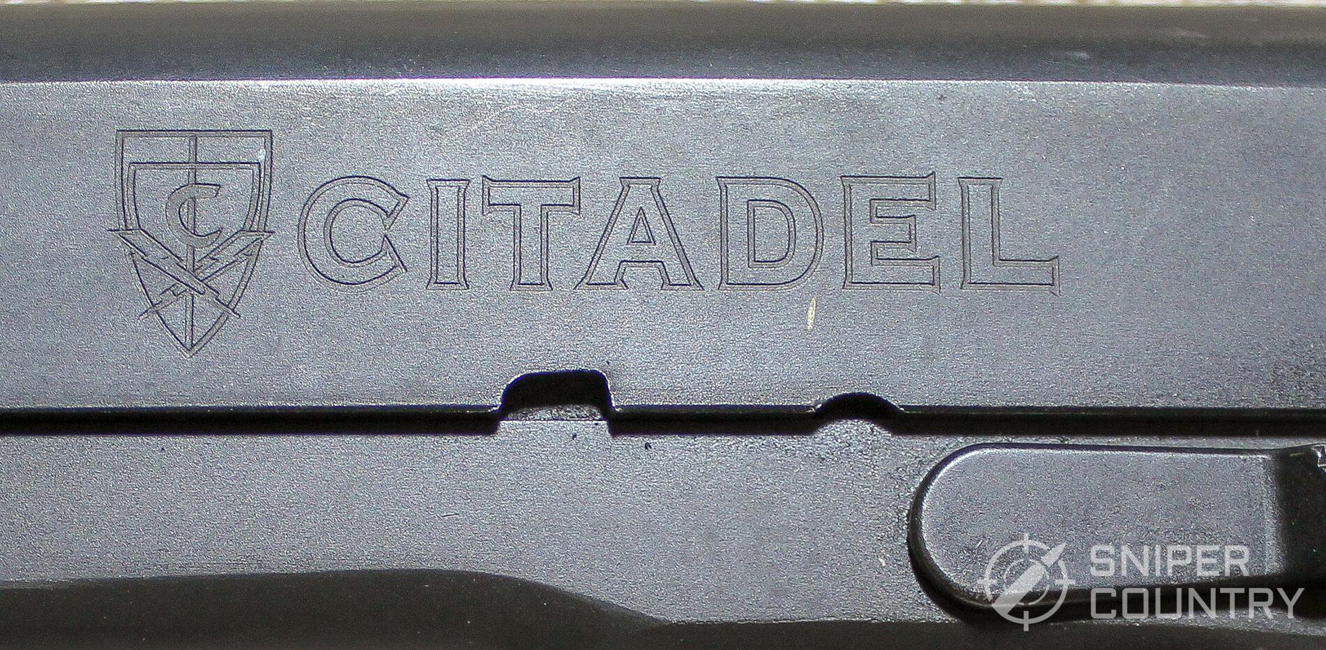 Citadel 1911 left engraving logo