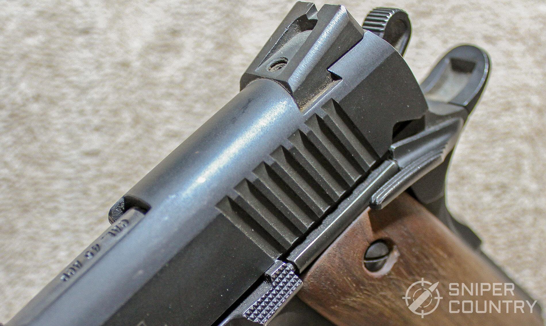 Citadel 1911 rear sight slide stop safety