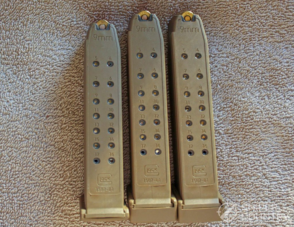 Glock G19X magazines loaded