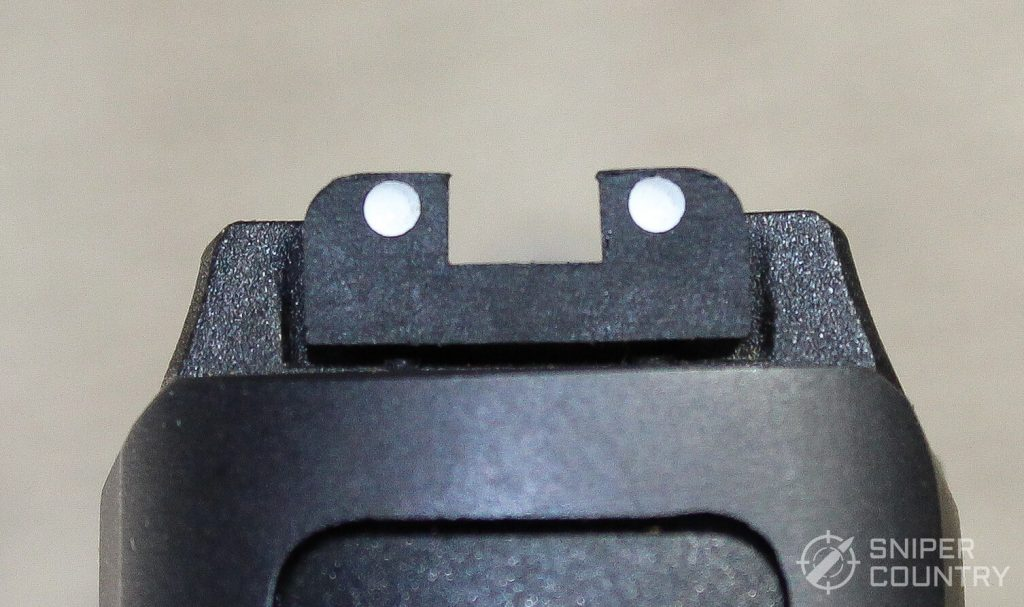 Taurus 709 Slim rear sight dots