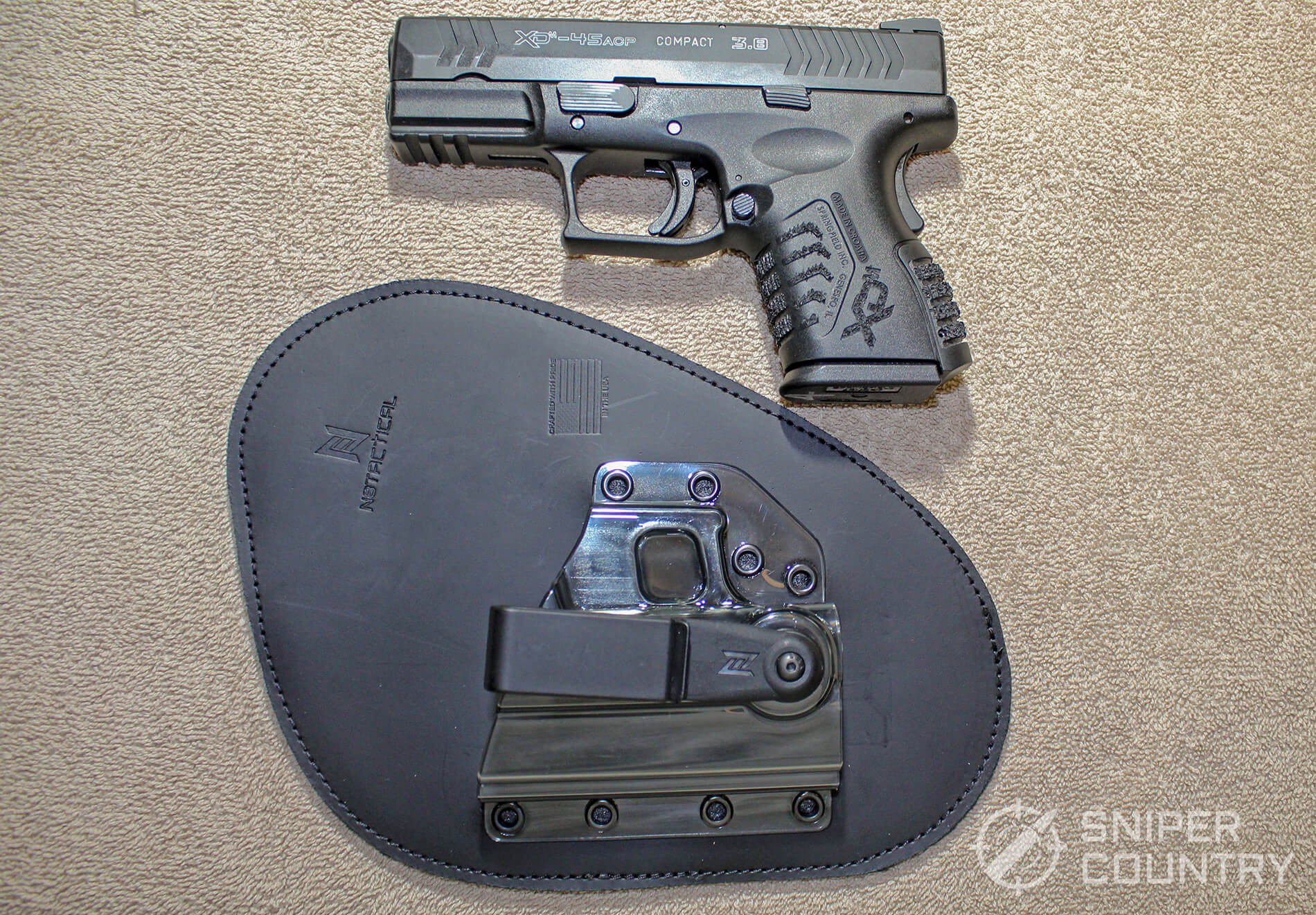 springfield next to holster
