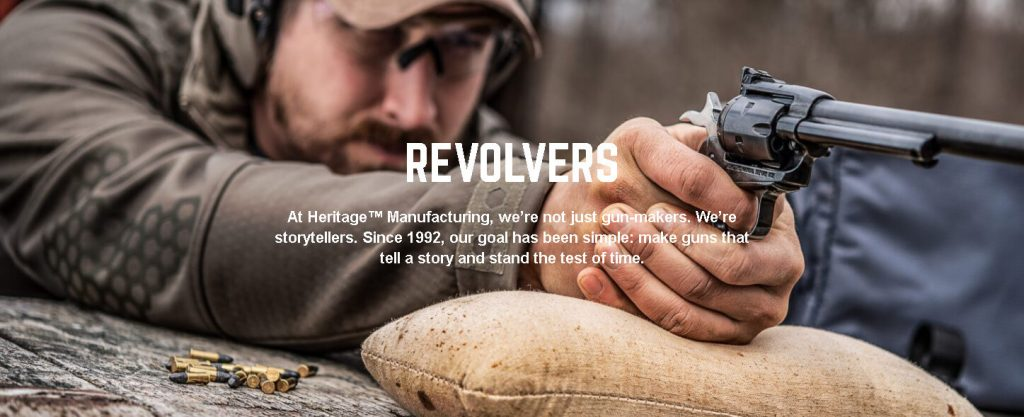 Heritage Arms website screenshot