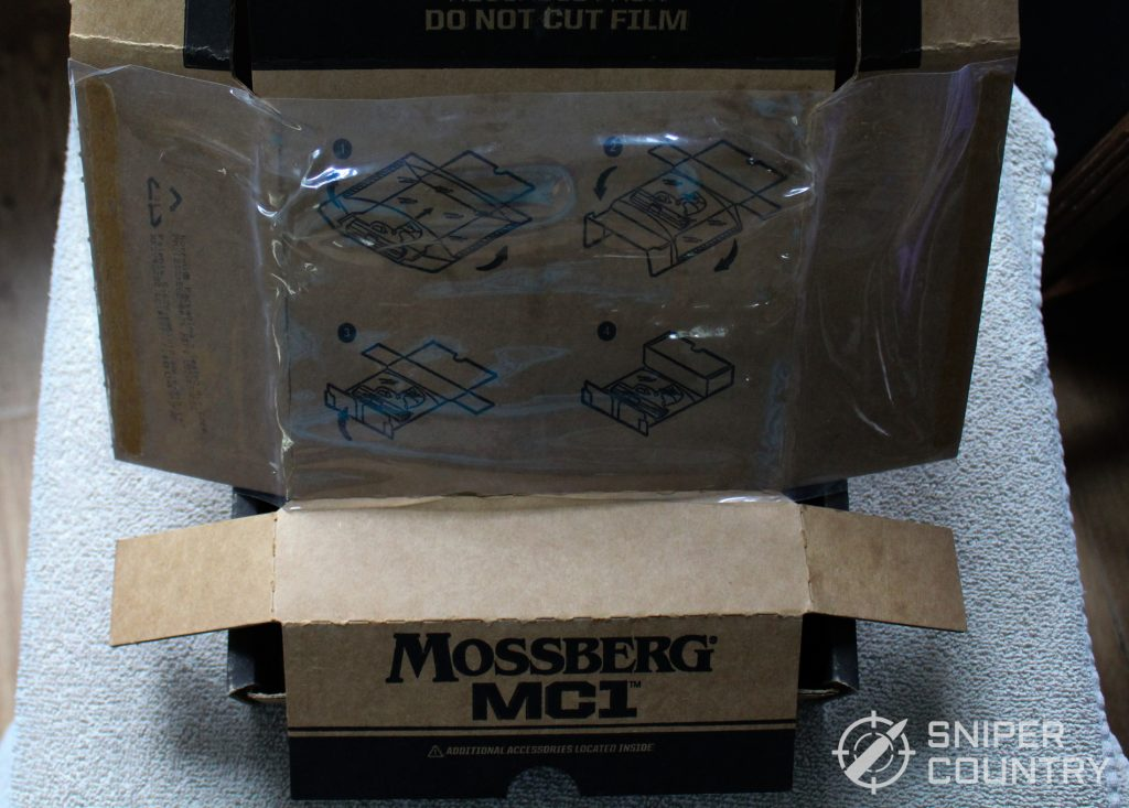 Mossberg MC1sc box packaging