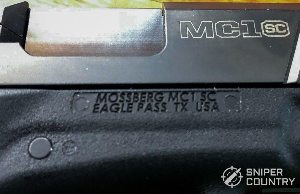 Mossberg MC1sc frame branding