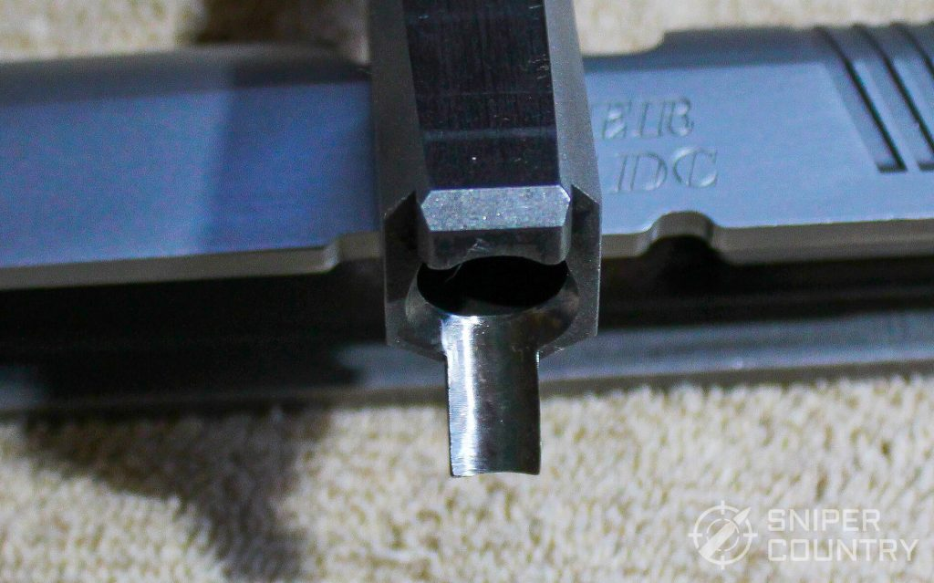Ruger P97 barrel feedramp