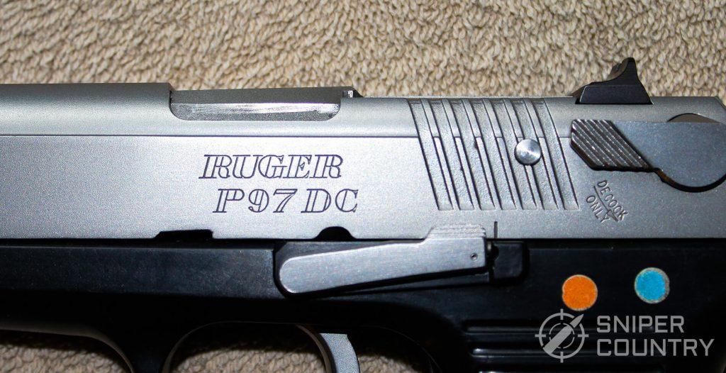 Ruger P97 frame upper leftside